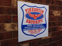 Screen printed sign