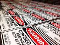 Screen printed signs